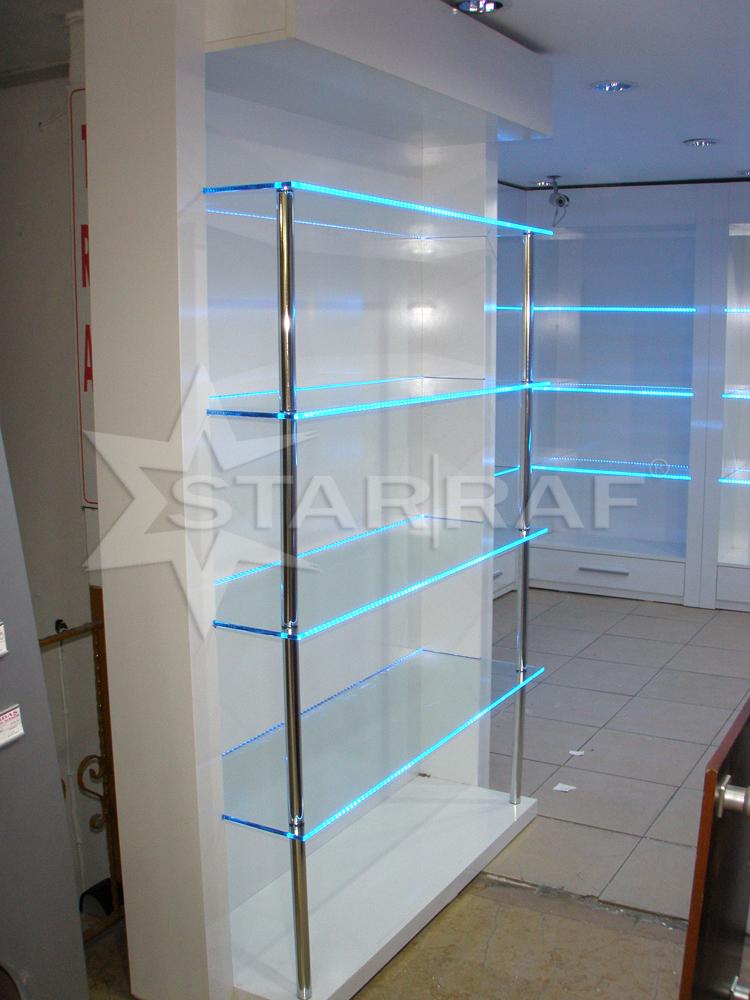Ledli cam raflı dolap-2